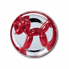 RARE Jeff Koons Red Balloon Dog Sculpture