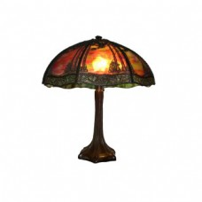 Handel Sunset Pine Shade with Bronze Lamp