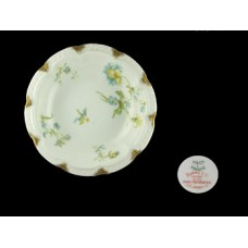 Haviland Limoges Blue Floral Rimmed Fruit Bowl