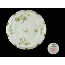 Haviland Limoges Blue Floral Rimmed Soup Bowl