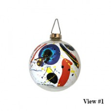 Sam Francis American Glass Art Holiday Ornament II