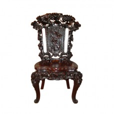Chinese Carved Side Chair