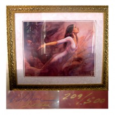 "Gold Framed Signed Poster Biolchini ""Freedom"""