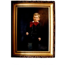 Portrait of a Young Boy in Original Gold Frame