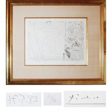 Pablo Picasso Framed Original Etching
