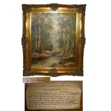 Original Framed Woodland by W. Gromann