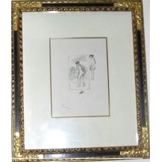 Framed Renoir Femme au cap de vigne