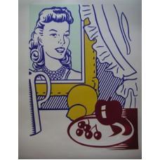 "Roy Lichtenstein - ""Still Life With Portrait"" Signed from 'Six Still Lifes'"