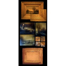 Gold Square Framed Artwork