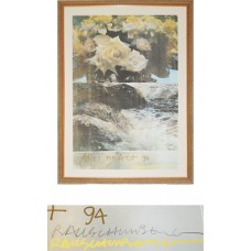 Arts for Act Untitled Poster Signed Limited Edition - Robert Rauschenberg