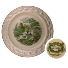 W. Adams & Sons Italian Scenery Plate