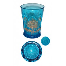 Carnival Northwood Oriental Poppy Ice Blue Tumbler