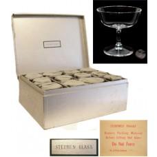 Steuben Crystal Set of 12 Stemmed Champagnes