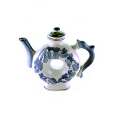Circle Decorative China Teapot with Fruit