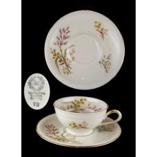 Vintage Floral Winterling Bavaria Demitasse Cup and Saucer Set