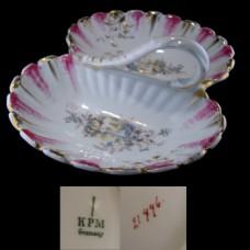 KPM Porcelain Divided Handled Serving Dish