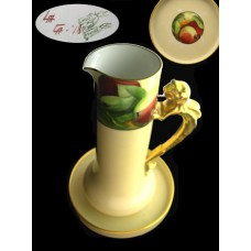 Limoges Dragon Handle Tankard with Underplate