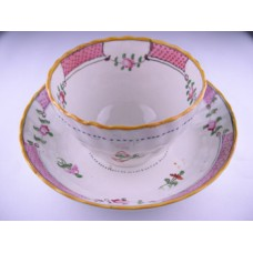 Pearlware Floral Tea Bowl and Saucer