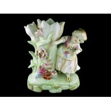 Occupied Japan Colonial Girl Figurine Vase