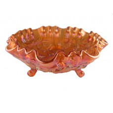 Imperial Glass Marigold Open Rose Footed Bowl