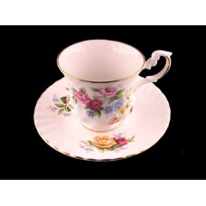Royal Dover Floral and Gold Trim Cup and Saucer