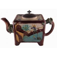 Majolica Elephant Style Teapot