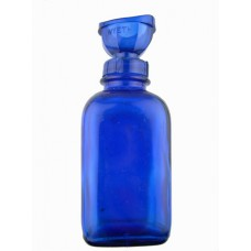 Wyeth Cobalt Glass Bottle w/Eye Cup
