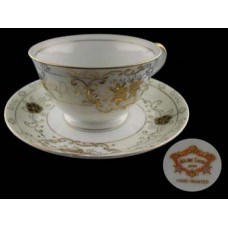 Antique Coronet Adline Handpainted Cup and Saucer Set - Japan