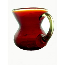 Amberina Crackle Pitcher with Applied Handle