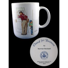 Closed For Business Norman Rockwell Mug