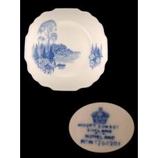 Myott Blue Homeland Multisided Dinner Plate