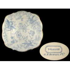 Royal Staffordshire G. F. Bowers Blue Dragon Plate