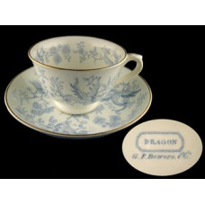 Royal Staffordshire  Bowers Blue Dragon Cup/Saucer