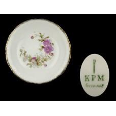 KPM Purple Floral Coupe Cereal Bowl