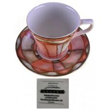 Sasaki China Magnolia Flat Cup and Saucer Set