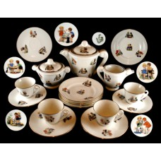 17 Pc.Child's Boys and Girls Tea Set - France