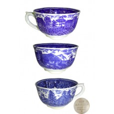 Arabia of Finland Blue Landscape Footed Cup