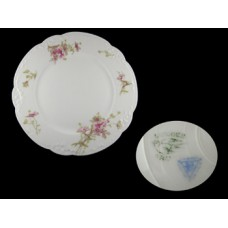 Limoges Floral Scalloped Luncheon Plate