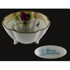 Nippon Floral Hand Painted Individual Nut Dish