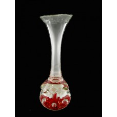 Joe St. Clair Red Lily Vase Paperweight