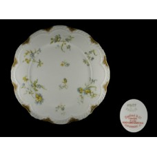 Haviland Limoges Blue Floral Dinner Plate