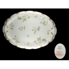 Haviland Limoges Blue Floral Oval Serving Platter