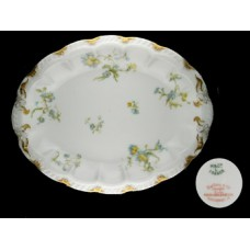 Haviland Limoges Blue Floral Oval Vegetable Dish