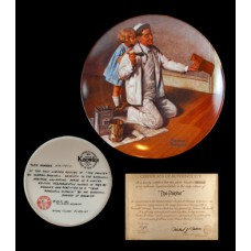 Norman Rockwell's The Painter Plate 1995