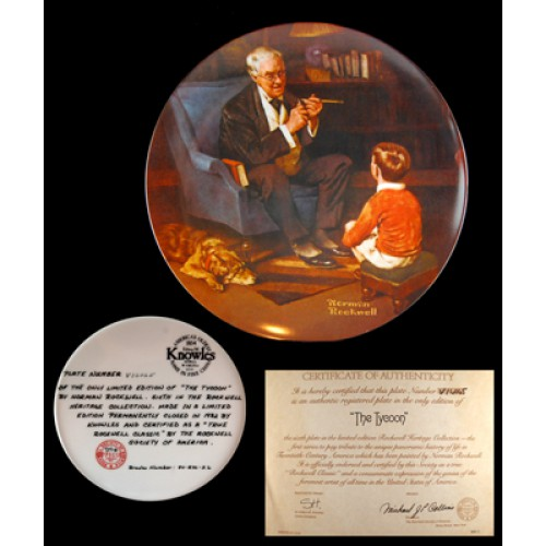 Norman Rockwell's The Tycoon Plate 1995