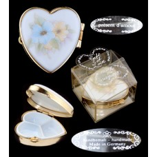 Vintage Hand Made Heart-Shaped Box - Germany