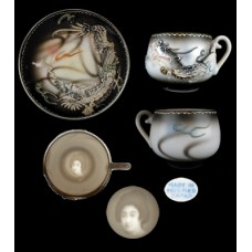 Dragonware Cup/Saucer w/Lithophane-Occupied Japan
