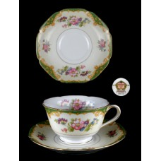 Noritake Amazon Footed Cup and Saucer Set