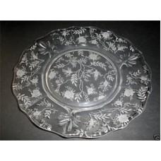 Fostoria Baroque Etched Chintz Salad Plate