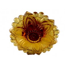 Depression Amber Floral Glass CurtainTieback